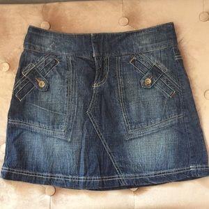 DKNY jean skirt